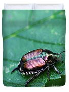 Japanese Beetle Duvet Cover
