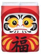 Japanese Daruma Doll Illustration Duvet Cover