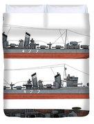 Japanese Destroyer Fubuki Duvet Cover