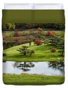 Japanese Garden Autumn Duvet Cover