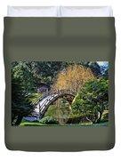 Japanese Garden Bridge Duvet Cover