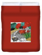 Japanese Garden Norfolk Botanical Garden 201820 Duvet Cover