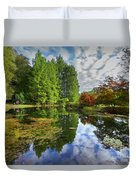Japanese Garden Pond I Duvet Cover