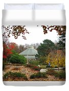 Japanese Garden Roger Williams Park Duvet Cover
