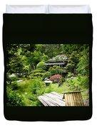 Japanese Garden Teahouse Duvet Cover