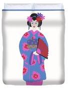 Japanese Girl Duvet Cover