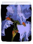 Japanese Iris-blue Beauty Duvet Cover