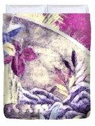 Japanese Iris - Kimono Series Duvet Cover