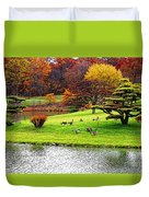 Japanese Island Fall Colors Duvet Cover