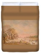 Japanese Light In Remembrance Of Aert Van Der Neer Duvet Cover