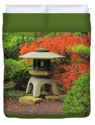 Japanese Maple And Lantern 1 Duvet Cover