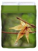 Japanese Maple In The Rain Duvet Cover