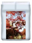 Japanese Maple Tree In Spring Duvet Cover