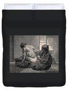 Japanese Physician Applying Moxa Duvet Cover