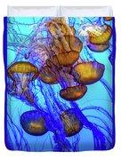 Japanese Sea Nettles Duvet Cover