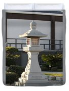 Japanese Stone Pagoda Duvet Cover