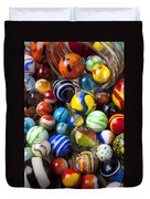 Jar Of Marbles Duvet Cover by Garry Gay