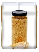 Jar Of Minced Garlic And Clove Duvet Cover