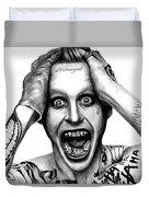 Jared Leto As The Joker Duvet Cover