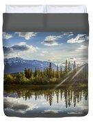 Jasper Glory Rocky Mountain View Duvet Cover