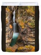 Jasper Maligne Canyon Waterfall Duvet Cover