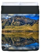 Jasper Pyramid Lake Reflections Duvet Cover