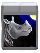 Javan Rhino Duvet Cover