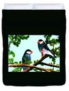 Java Sparrows  #102 Duvet Cover