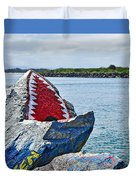 Jaws - Beach Graffiti Duvet Cover