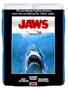 Jaws Movie Poster - 1975 Duvet Cover