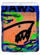 Jaws Poster  Duvet Cover