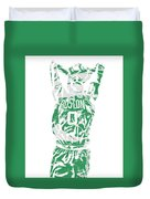 Jayson Tatum Boston Celtics Pixel Art 12 Duvet Cover