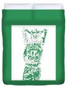 Jayson Tatum Boston Celtics Pixel Art 12 Duvet Cover
