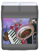 Jazz At Sunset Duvet Cover