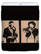Jazz Jammin Brothers Duvet Cover