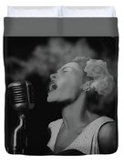 Jazz Great Billie Holiday Duvet Cover