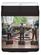 Jazz Greats Al Hirt Fats Domino Pete Fountain Stature New Orleans  Duvet Cover