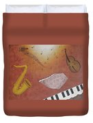 Jazz Music Duvet Cover