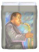 Jazz Musician Duvet Cover