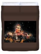 Jazz Violin Player Duvet Cover