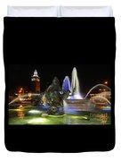 J.c. Nichols Fountain-kc,mo-4967 Duvet Cover