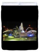 J.c. Nichols Fountain-4981 Duvet Cover