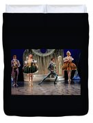 Jealous Stepsister Ballerinas En Pointe With Guests At The Ball  Duvet Cover