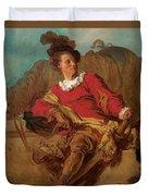 Jean-claude Richard Abbe Of Saint-non Duvet Cover