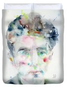 Jean Cocteau - Watercolor Portrait.2 Duvet Cover
