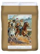 Jeb Stuarts Cavalry 1862 Duvet Cover
