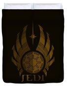 Jedi Symbol - Star Wars Art, Brown Duvet Cover