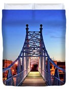 Jefferson Avenue Footbridge Duvet Cover