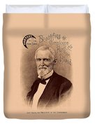 Jefferson Davis Vintage Advertisement Duvet Cover