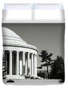 Jefferson Memorial Building In Washington Dc Duvet Cover